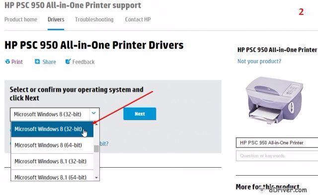 download HP Photosmart B8500 Printer driver 2