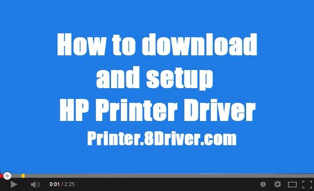 Video step to step installing HP LaserJet 8000 Printer series driver